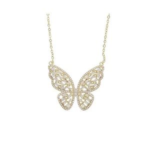 Jewelry - Gold Baguette Butterfly Necklace